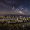The Milky Way Rising Over Old Marina in Little Egg Harbor 3/16/19