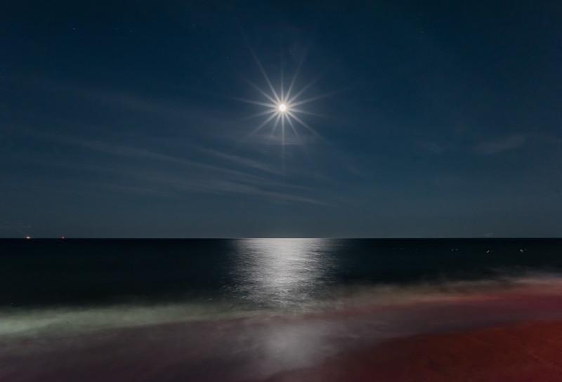 Point Pleasant Beach Moon Rise 7/21/16