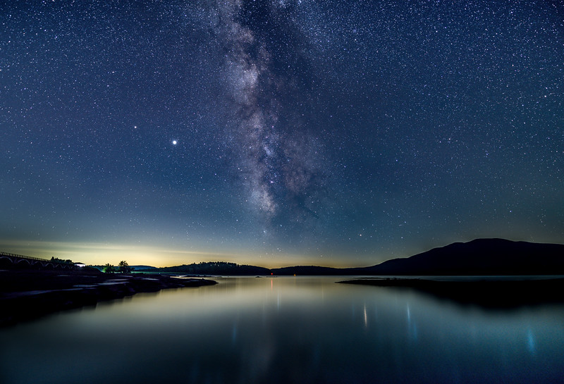 The Milky Way Rising Over A Lake In The Catskills, NY 7/18/20