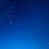 Orion Meteor Streaking Near Constellation Orion 10/21/17