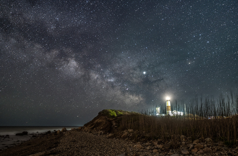 The Milky Way Rising Over The Montauk Lighthouse, Montauk, NY 5/7/19