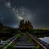 The Milky Way Rising Over Abandoned Railroad Tracks 6/14/20