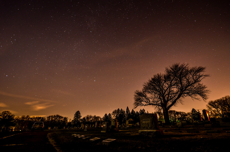Starry Night Over Cemetery, Farmingdale, NJ