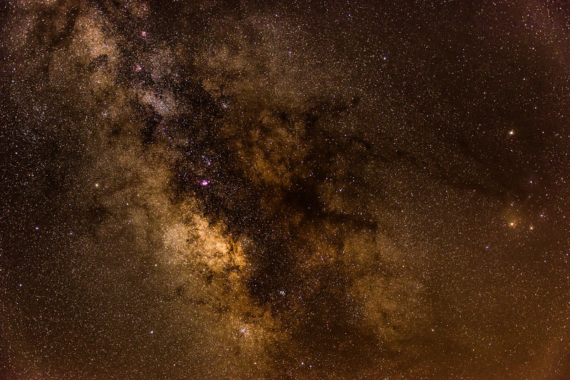 Milky Way Galactic Core with Dark Hose Nebula 8/4/16