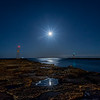 Moon Rise Over Shark River Inlet 4/23/16