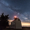 Milky Way Over East Point Lighthouse 6/26/17