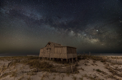 The Milky Way Arching Over The Judge's Shack in Island Beach State Park 4/29/19