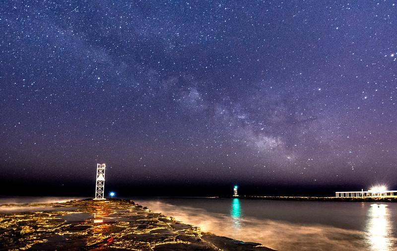 Milky Way Over Shark River Inlet 3/18/16