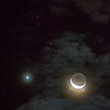 Waning Crescent Moon, Venus and Mars