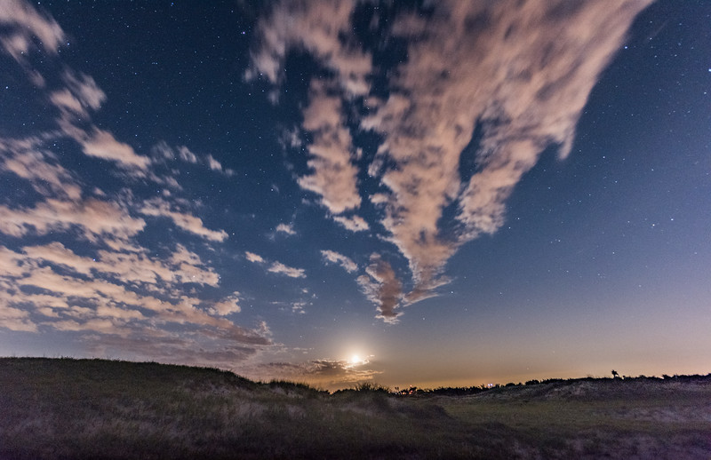 Moon Setting Over Barnegat Bay 6/2/17