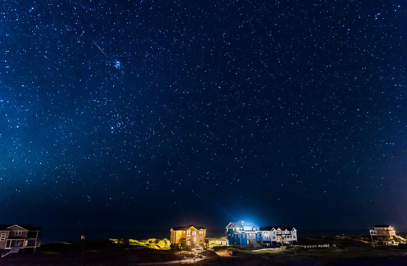 Perseid Meteor Over Corolla 8/10/16