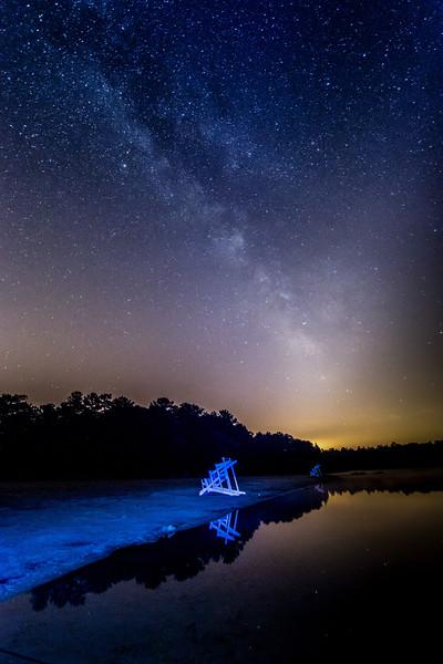 The Milky Way Galaxy on Lake, Pine Barrens, NJ