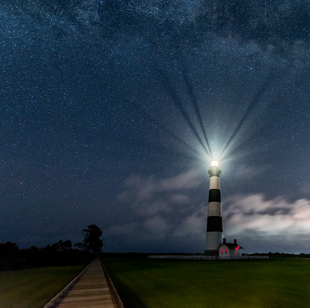 The Milky Way Over The Bodie Island Lighthouse 8/16/17