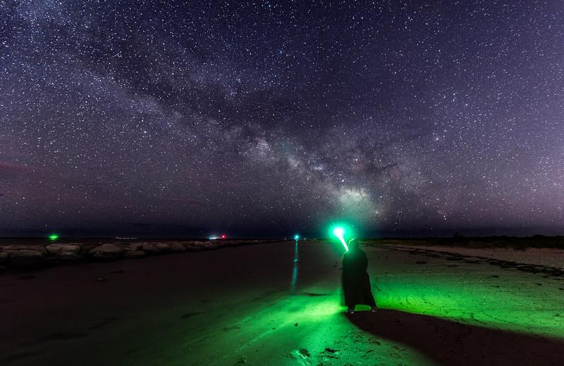 The Milky Way Rising Over Jedi on Barnegat Beach 5/27/17