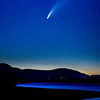 Comet C/2020 F3 NEOWISE At Dusk Over Lake In The Catskills, NY 7/17/20
