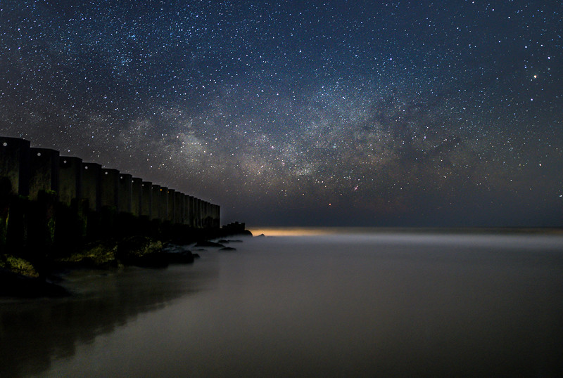 The Milky Way Rising Over Old Wooden Jetty In Holgate, Long Beach Island 2/23/20