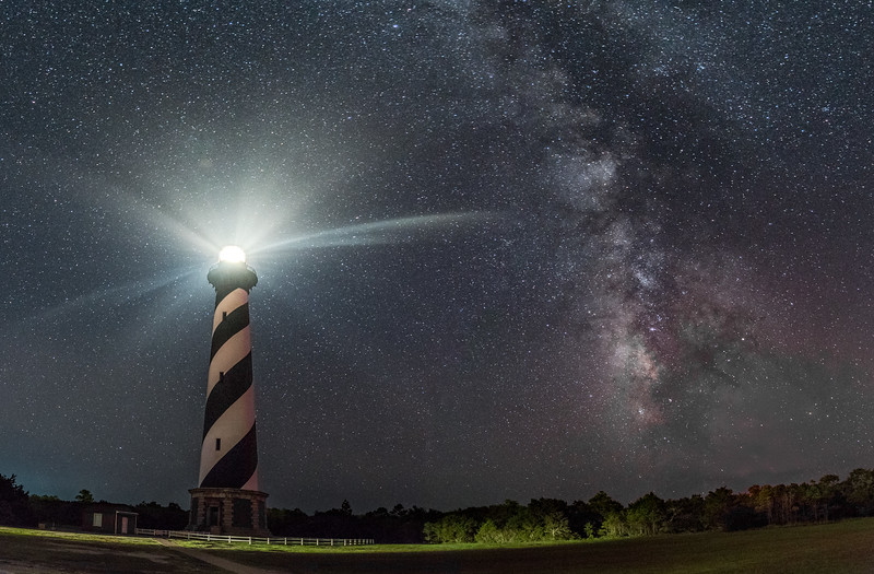 The Milky Way Over Cape Hatteras Lighthouse 8/16/17