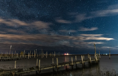 A Starry Night Over Old Marina in Little Egg Harbor 3/16/19