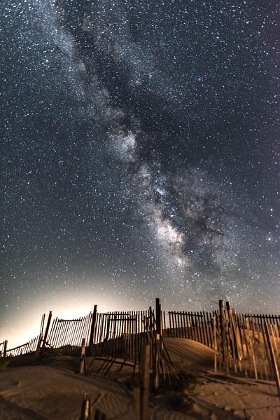 Milky Way Over Corolla Beach Dunes 8/3/16