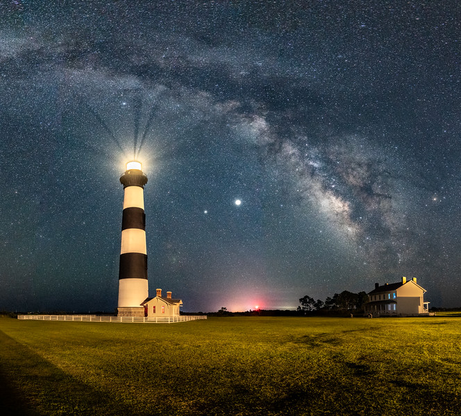 The Milky Way Arching Over The Bodie Island Lighthouse, Nags Head, NC 7/22/20