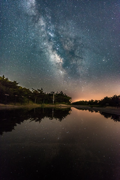 The Milky Way Reflecting in a Puddle in Island Beach State Park 6/12/18