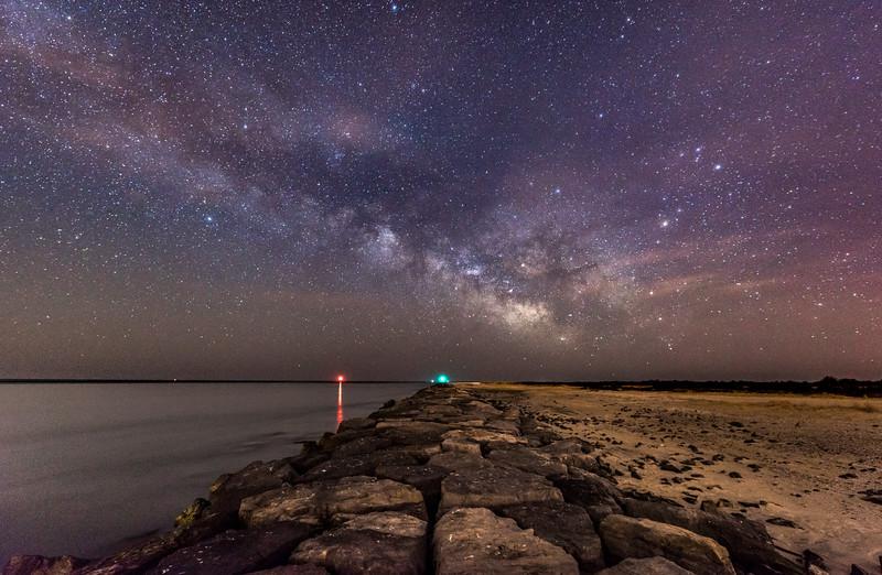 Milky Way Over Barnegat Inlet 3/24/17
