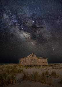 The Milky Way Galactic Core Rising Above The Judge's Shack in Island Beach State Park 4/29/19