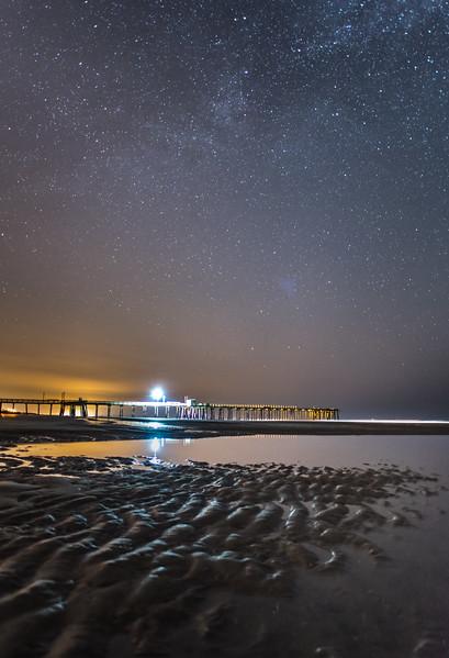 Starry Sky over Avalon Pier 5/9/16