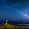 The Milky Way Galaxy Arching Over Shark River Inlet, Belmar, NJ