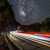 The Milky Way Rising Over Car Trails At Hawk's Nest, Port Jervis, NY 9/19/20