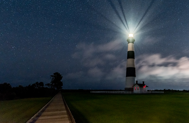 The Milky Way Over The Bodie Island Lighthouse, Outer Banks, NC 8/16/17