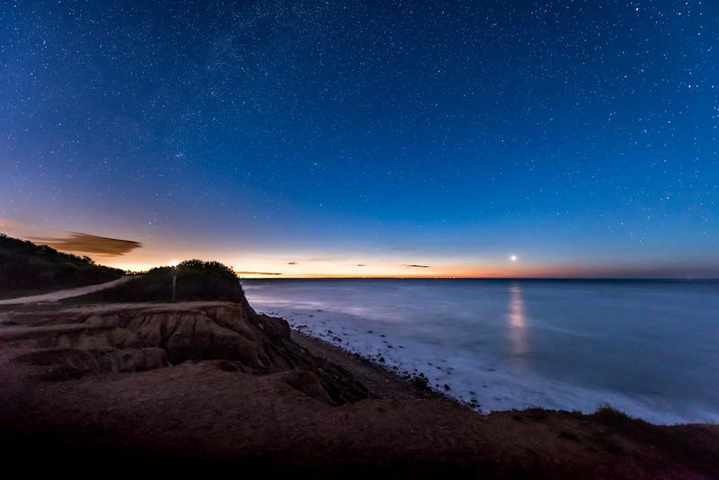 Venus Rising at Predawn Over Ocean at Montauk Beach 5/3/17