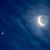 Waning Crescent Moon and Venus