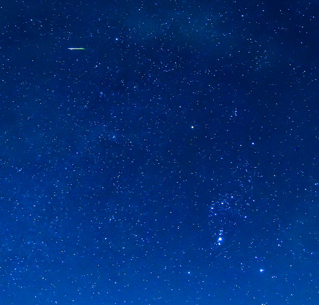 Orionid Meteor Streaking Near Constellation Orion 10/21/17