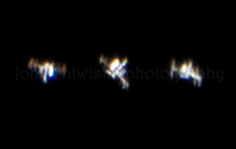 The International Space Station (ISS) Passing Overhead at the Jersey Shore, NJ