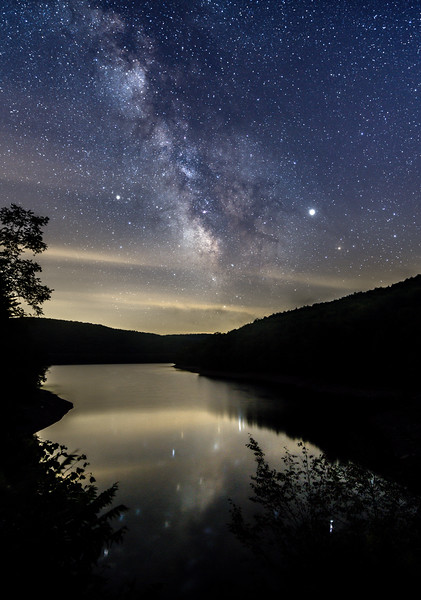 The Milky Way Rising Over Pepacton Reservoir 8/23/19