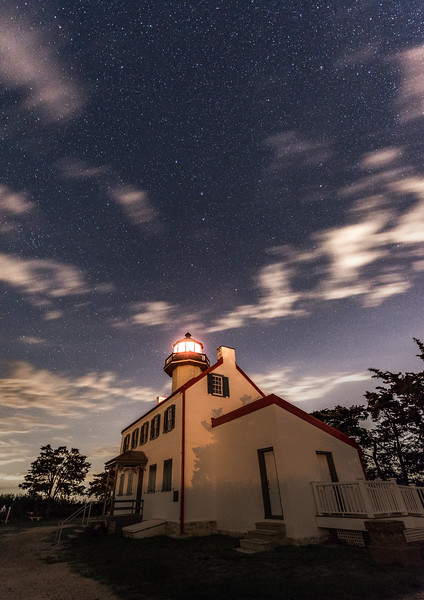 Big Dipper Over East Point Lighthouse 6/26/17