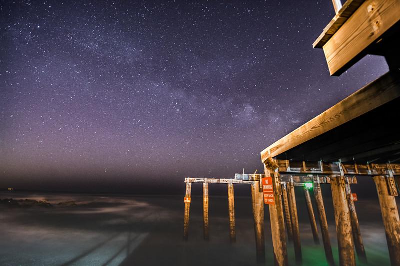 Milky Way Over Ocean Grove Pier 3/18/16