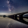 The Milky Way Rising Over Old Aquaduct Birdge In The Catskills, NY 7/18/20
