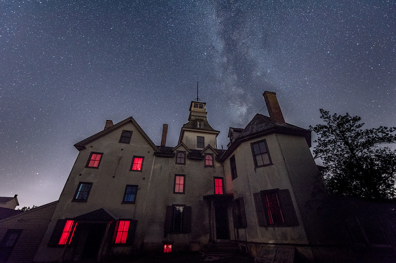 Milky Way Arching Over Batsto Mansion 7/31/17