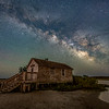 The Milky Way Rising Over Old Shack At Assateague Island, MD 5/13/21