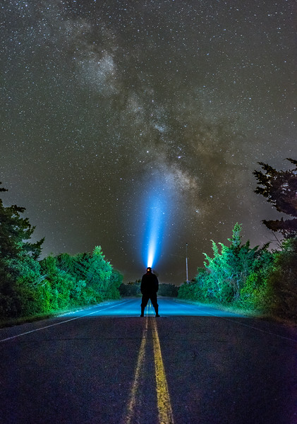 The Milky Way Rising Over Access Road in Island Beach State Park 6/12/18