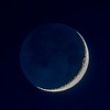 Waxing Crescent Moon with Earthshine