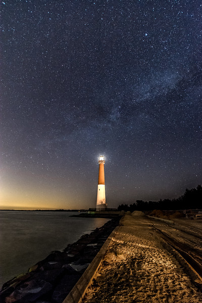 Milky Way Galaxy Over Barnegat Lighthouse 4/6/16