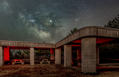 The Milky Way Rising Over Picnic Area At Barnegat Lighthouse State Park 4/11/19