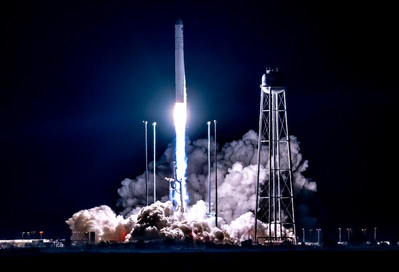 Antares Rocket Lifting Off From NASA Wallops Island, VA 11/17/18