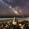 Milky Way Over Rock Stack On Montauk Beach 5/3/17