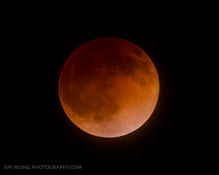 Total lunar eclipse, Palo Alto (4/19/14)