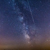A Perseid Meteor Streaking Next to the Milky Way Galaxy, Jackson, NJ