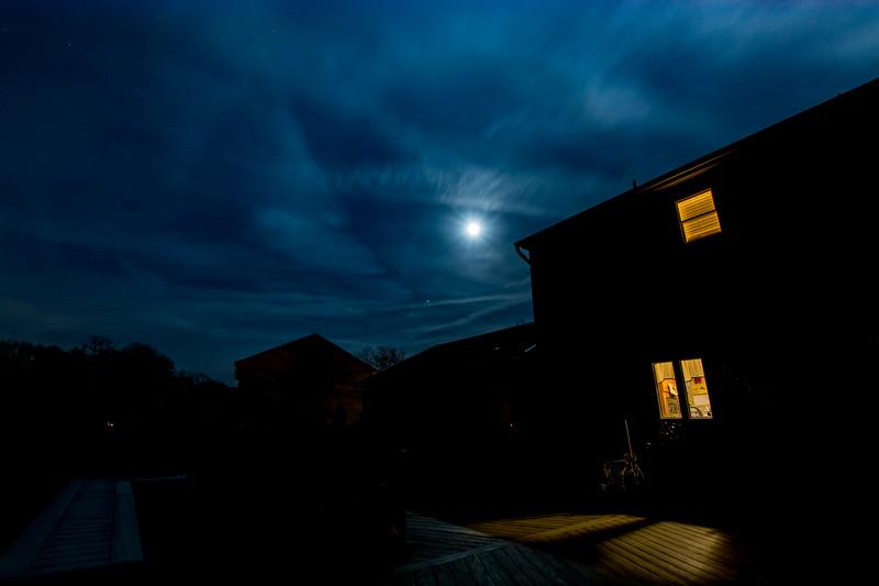 Full Moon and Jupiter Rising 2/22/16